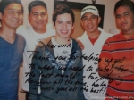 David Archuleta's note to his driver Sherwin in Philippines