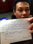 Letter from David Archuleta to RS Francisco (aka Volta in Nandito Ako mini-seri)