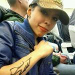Vanessa Deliz with David Archuleta's autograph on her arm