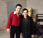 Michael Weiss and David Archuleta backstage Pandora show